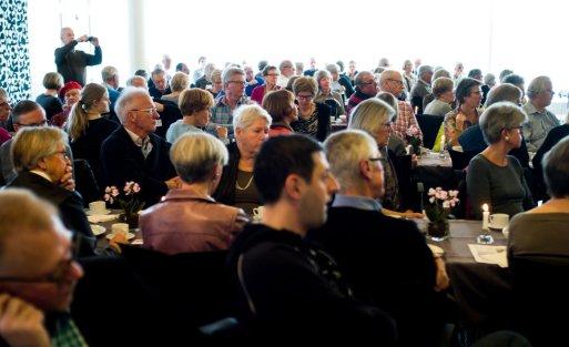Omkring 90 interesserede deltagere lyttede til Ann-Lisbeth.